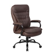 Boss Office Products High-Back Executive Office Chair with Lumbar Support