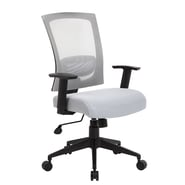 Boss Office Products High-Back Mesh Task Chair with Arms; Gray