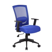 Boss Office Products High-Back Mesh Task Chair with Arms; Blue