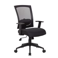Boss Office Products High-Back Mesh Task Chair with Arms; Black