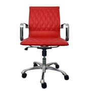 Woodstock Marketing Annie Mid-Back Executive Office Chair with Arms; Red