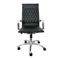 Woodstock Marketing Annie High-Back Executive Office Chair with Arms; Black