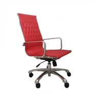 Woodstock Marketing Annie High-Back Executive Office Chair with Arms; Red