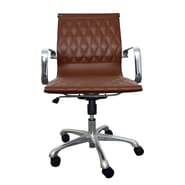 Woodstock Marketing Annie Mid-Back Executive Office Chair with Arms; Brown