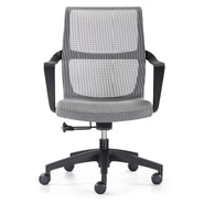 Woodstock Marketing Ravi Mid-Back Mesh Task Chair with Arms; Grey