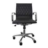 Woodstock Marketing Annie Mid-Back Executive Office Chair with Arms; Black