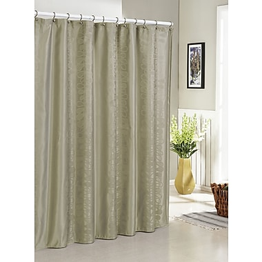 DR International Hoyt Jacquard Shower Curtain; Taupe