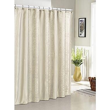 DR International Hoyt Jacquard Shower Curtain; Ivory