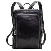 Floto Imports Milano Leather Backpack; Black