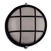 PLC Lighting Marine 1 Light Wall Sconce; 8'' H x 8'' W x 4.5'' D / Black