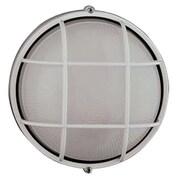 PLC Lighting Marine 1-Light Outdoor Bulkhead Light; 10'' H x 10'' W x 5.25'' D / Black