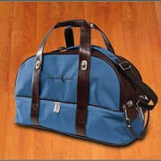 Crescent Moon Overnighter 19'' Gym Bag; Blue / Brown