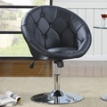 Wildon Home  Hebron Adjustable Swivel Bar Stool; Black