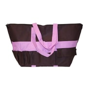 Neatnix Stuff Tote; Brown and Light Pink