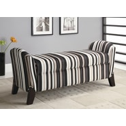 Wildon Home   Northlake Upholstered Storage Bench; Cappuccino