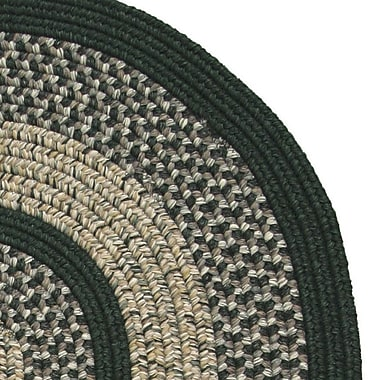 Thorndike Mills Town Crier Green Indoor/Outdoor Rug; Round 8'6''