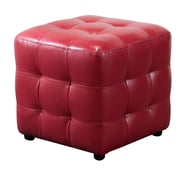 Diamond Sofa Zen Cube Ottoman; Red