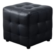 Diamond Sofa Zen Cube Ottoman; Black