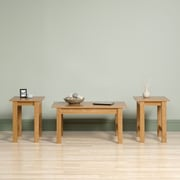 Sauder Beginnings 3 Piece Coffee Table Set; Highland Oak