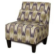 Chelsea Home Armless Accent Chair; Latham Leaf