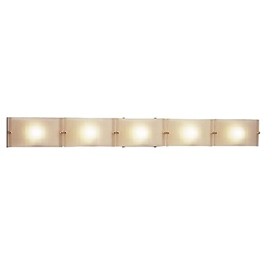 PLC Lighting Gem 5 Light Wall Sconce; Polished Chrome