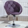 Wildon Home   Hebron Adjustable Swivel Bar Stool; Purple
