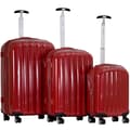 CalPak Casta 3 Piece Luggage Set; Red