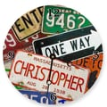 Lexington Studios Personalized License Plate Round Clock; 10''