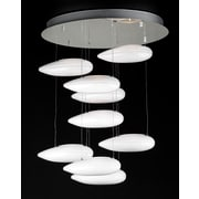PLC Lighting Aquarium 9-Light Shaded Chandelier; Opal
