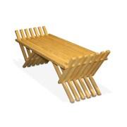 Glodea X90 French Bench Pine Picnic Bench; Honey