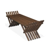 Glodea X90 French Bench Pine Picnic Bench; Expresso Brown