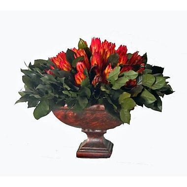 Creative Branch Preserved Protea and Salal in Urn