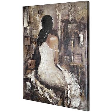 Hobbitholeco. Waiting II by Anastasia C. Original Painting on Wrapped Canvas