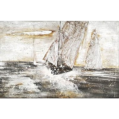 Hobbitholeco. Rough Waters by Mars Original Painting on Wrapped Canvas