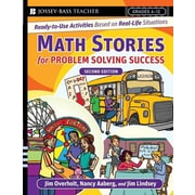 "Jossey-Bass™ ""Math Stories For Problem-Solving Success: Rea.."" Grade 6th-12th, Paperback Book"