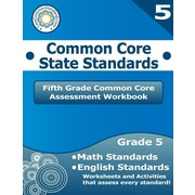 "Createspace™ ""Fifth Grade Common Core Assessment Workbook: Common Core.."" Paperback Book, Grade 5th"