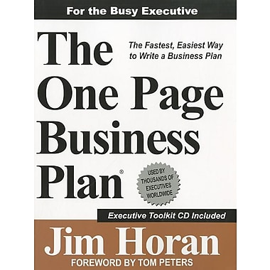 One-Page Business Plan Company