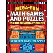 "Jossey-Bass™ ""Mega-Fun Math Games and Puzzles for the Elementary Grade: Over 125 A.."" Paperback Book"