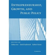 "Cambridge University Press ""Entrepreneurship, Growth, and Public Policy"" Hardcover Book"