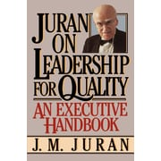 """Free Press """"Juran on Leadership for Quality """" Paperback Book"""