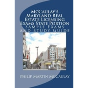 "Createspace™ ""Mccaulay's Maryland Real Estate Licensing Exams State Portion..."" Paperback Book"