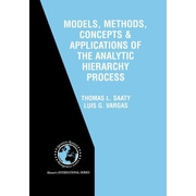 "Springer ""Models, Methods, Concepts & Applications of the Analytic Hierarchy Process"" Paperback Book"