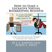 "Createspace™ ""How to Start a Lucrative Virtual Bookkeeping Business"" Paperback Book"