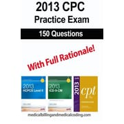 "Createspace™ ""CPC Practice Exam 2013: Includes 150 practice questions, answers.."" Paperback Book"