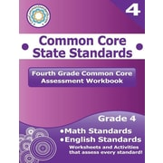 "Createspace™ ""Fourth Grade Common Core Assessment Workbook: Common Core.."" Paperback Book, Grade 4th"
