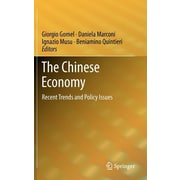 "Springer ""The Chinese Economy: Recent Trends and Policy Issues"" Hardcover Book"
