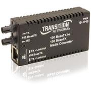 Transition Networks® M/E-TX-FX-01 SC Mini Fast Ethernet Media Converter