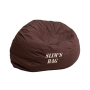 Flash Furniture Cotton Twill Embroidered Small Solid Kids Bean Bag Chair
