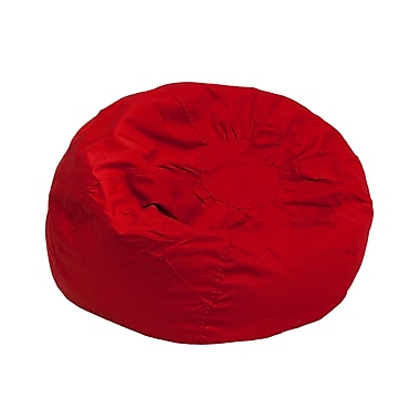 Flash Furniture Cotton Twill Small Solid Kids Bean Bag Chair, Red