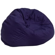 Flash Furniture Cotton Twill Oversized Solid Bean Bag Chair, Navy Blue